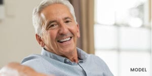 Older Man Smiling Showing Nice Teeth
